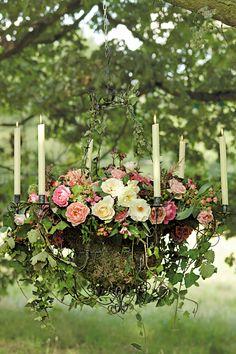 Garden Wedding Decoration - Midsummer Nights Dream-Inspired Setting (BridesMagazine.co.uk) Like this.
