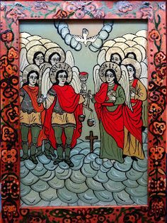 Icoane pe Sticla Orthodox Icons, Christian, Painting, Painting Art, Paintings, Draw