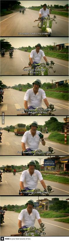 Jeremy clarkson has his own thoughts about bikes