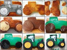 Kessy& Pink Sugar: Step by step to make a 2 dimensional motif cake . - Kessy& Pink Sugar: Step by Step Making a 2 Dimensional Motif Cake – Tutorial - Tractor Birthday Cakes, Farm Birthday, Birthday Cupcakes, Tractor Cakes, Tractor Cupcake Cake, Thomas Birthday Cakes, John Deere Party, Farm Cake, Cakes For Boys