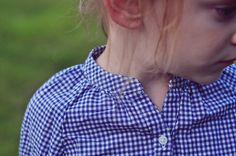 OshKosh gingham shirt for fall back to school. #OshKoshFirstDay
