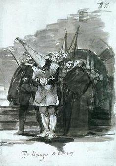Las pinturas de auto-de-fé de Goya.