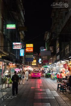 Night in Bangkok, Thailand is always alive and always something going on .