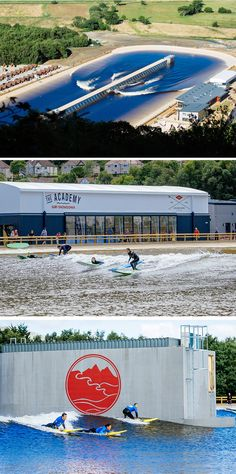 Surfing in Britain? This new surf park in Wales has the longest man-made surfable waves in the world...Surf Snowdonia is a brand new inland surf lagoon that opened today in the village of Dolgarrog in North Wales.