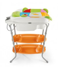 Olbia Bath Center   Hedeya Code:2790   Short Description: Available in 3 versions: I-magic, I-rabbit, I-turtle.  Long description: Double layer changing table. Avoidance system drop when changing table is open.  Equipped with a bathroom Surf: large, with 2 slip anatomical positions (0-6 months and 6-12 months) glass shower play and drain.  Rich changer with side shields.  Minutes shelves with slots for bottles cosmetics.  Rails for hanging towels. Price:2470 LE  #hedeya #hedeya_stores #gifts