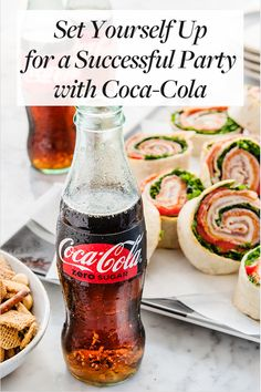 Set Yourself Up for a Successful Party with Coca-Cola. Order your customized Coke bottles for your event. Party Snacks, Appetizers For Party, Coca Cola, Pokemon, Spaghetti Sauce, Appetisers, Everyday Food, Brunch Recipes, Coke