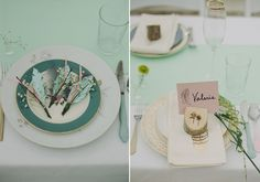 Woodsy place settings