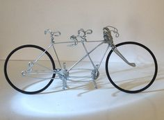 Wire Tandem Bicycle Wedding Cake Topper By Wirebicycles On Etsy