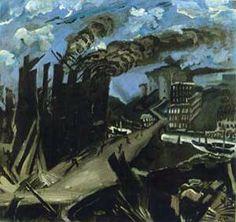 Ludwig Meidner, Burning Factory, c. Ludwig Meidner, Gothic Elements, The Royal School, Jewish Museum, Jasper Johns, Jewish Art, Painting Gallery, Urban Landscape, Dieselpunk