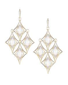 Taryn Chandelier Earrings in Gold - Kendra Scott Jewelry 70usd