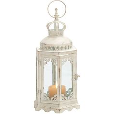 """I pinned this Roma Lantern from the Whittier & Co. event at Joss andPerfect for your desk, console, or side table, this beautiful accent brings cottage-chic charm to your home décor.        Product: Lantern      Construction Material: Metal      Finish: White      Dimensions: 17"""" H x 8"""" W x 8"""" D Main!"""