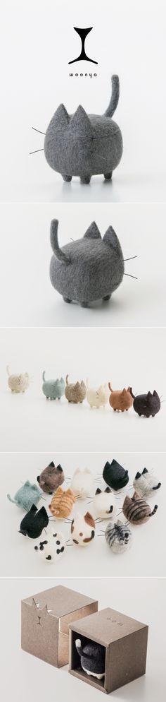 woonya/ 猫/cat/羊毛フェルト/Needle/Felting/mascot/doll/home/style/products/art/design