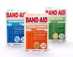 Band-Aid Packaging Redesign by Emma Thornhill, via Behance