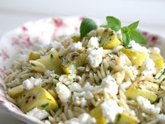 Minted Squash Orzo from FoodNetwork.com This is so easy and definitely a summer dish!
