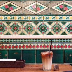 Regram by @suu_0902   Amazing majolica tiles with the Iced Latte. Cafe at Kyoto Japan.  Can I Regram? Use #riritiles  #peranakan#peranakantiles#tiles#tile#prettytiles#tileaddiction#tilehunter#beautifultiles#flower#decorative#decorativetiles#walltiles#homedecor#interior#interiordesign#artnouveautiles#antique#antiquetiles#artnouveau#artdeco#victoriantiles#oldtiles#glazedtile#タイル#プラナカン by riri_tiles