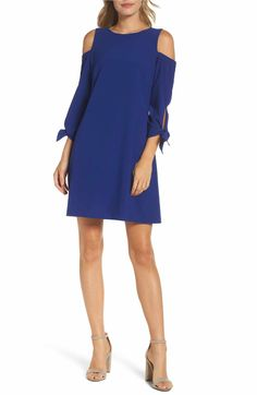 Main Image - Eliza J Cold Shoulder Shift Dress (Regular & Petite)