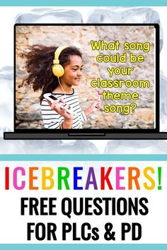 Icebreakers are inevitable at teacher professional development, lol. These free 18 questions are ready to go and will lead to building closer relationships with staff! FREE from Positively Learning #icebreakers #professionaldevelopment