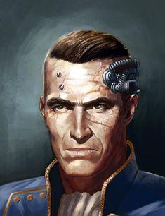 Cyberpunk Games, Cyberpunk Character, Character Concept, Character Art, Character Design, Navy Admiral, Battlefleet Gothic, Arte Steampunk, Avatar Picture
