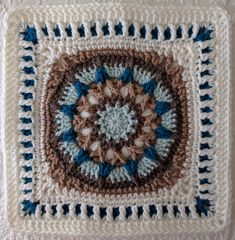 ccdoug's June for Sophie Loves Lilla Blanket Crotchet Patterns, Crochet Blocks, Granny Square Crochet Pattern, Afghan Crochet Patterns, Crochet Squares, Crochet Granny, Granny Squares, Crochet Mandala, Crochet Motif
