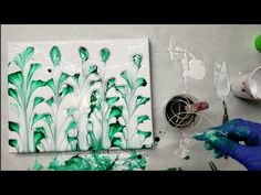 Today I'm string pulling the forest. I went for flowers to make it look like trees, rather a string forest. I think this is my best fluid art string pulling . Acrylic Flowers, Acrylic Painting Techniques, Liquitex, Pour Painting, Acrylic Pouring, Hello Everyone, Abstract Expressionism, Really Cool Stuff, I Am Awesome