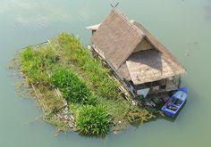 Floating farm in Thailand