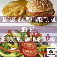It's about balance and consistency. You didn't gain all that weight from one meal so you aren't going to lose it from one meal.  #suckitupfitness #saturdaymorning #diet