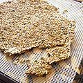Après de nombreux tatonements, voici une recette de crackers / craquelins aux graines de lin à tomber par terre!! Avec ni trop ni trop peu...