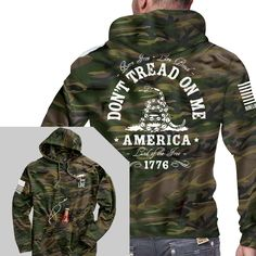 """GHun Shirt - The American flag is the ultimate symbol of our Freedom, so if you don't like freedom, we don't recommend this shirt. Know what would pair great with this hoodie for the ultimate AMERICA statement? A """"stomp my flag and I'll stomp your ass"""" shirt!   Get yours today: http://nine.li/2d0Tntp  #ninelineapparel #mensapparel #donttreadonme #america #1776 #freedom #americanflag"""