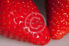 High resolution strawberry macro.