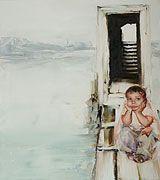 Original oil paintings. Elena Kapustina. `Stairs to the sky`