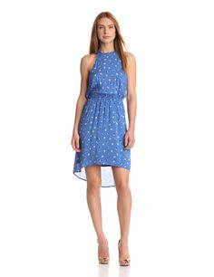 Splendid Womens Floral Dot Dress, French Blue, Large