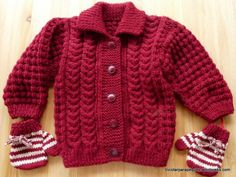 Jacket with buttons for babygirl 15 months old. Modelo - Tricotar para peques - Knitting for kids Knitting For Kids, Baby Knitting, Baby Vest, Baby Sweaters, Go Shopping, Baby Wearing, Minnesota, Men Sweater, Buttons