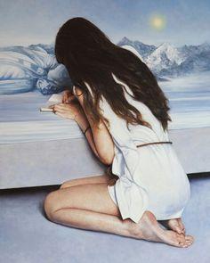 """White letter"", oil on canvas, 70x50cm,  2016"