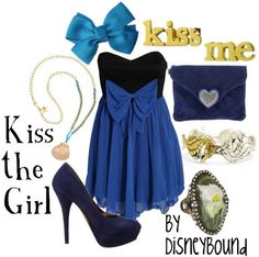 Disney inspired style: The Little Mermaid (minus the rings, add a white shawl/cover)