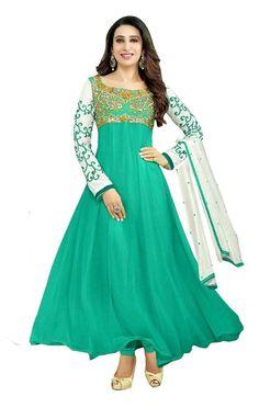 SF Designer Anarkali Indian Pakistani Salwar Kameez Bollywood Ethnic Party Wear  #Lookbollywood #BollywoodSalwarKameez