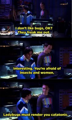 "When Sheldon didn't miss a beat on this dig at Raj's ""issues."" 