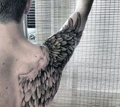 Wings Back Tattoo For Guys