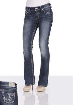 Silver Jeans Co.® Suki Dark Wash Jeans - maurices.com