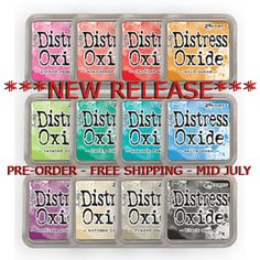 Tim Holtz Distress Oxide Ink Pads  NEW RELEASE  Full Set of