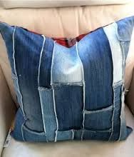 Image result for denim recycled pillows with felt