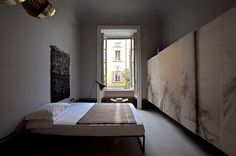 Painted sliding panels of wardrobe storage - Design Addicts Platform | Australia