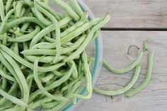 Blissfully Content: Freezing Green Beans