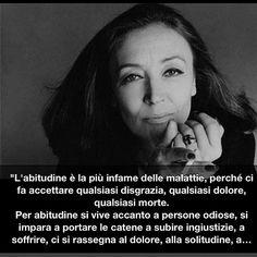 Oriana Fallaci (Firenze, 29 giugno 1929 – Firenze, 15 settembre 2006) è stata una scrittrice, giornalista e attivista italiana. Fu la prima donna in Italia ad andare al fronte in qualità di inviata speciale. #TuscanyAgriturismoGiratola
