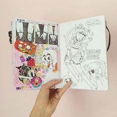 theskinnyartist: A few pages from my sketchbook, some old some...