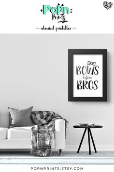 Looking for living room wall art to add a whimsical touch to your modern minimalist decor? This bows before bros printable is the perfect addition to your contemporary home decor and also makes a great housewarming gift for your best friend who loves funn Minimalist Decor, Modern Minimalist, Printable Art, Printables, Contemporary Home Decor, Modern Decor, Bedroom Art, Modern Bedroom, Great Housewarming Gifts