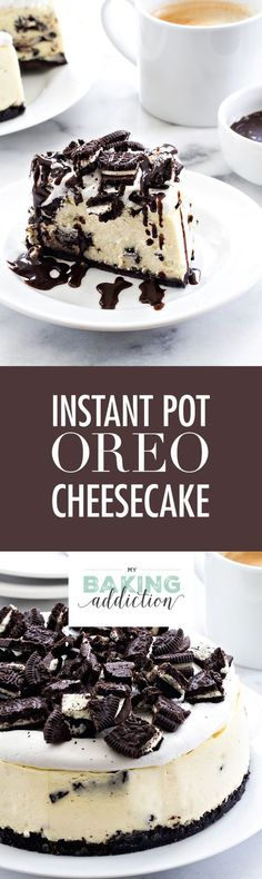 Instant Pot Oreo Cheesecake may be the easiest cheesecake you\'ll ever make. It\'s the perfect size for a small family too! You\'ll love this recipe.