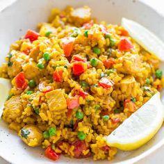 paella poulet facile cookeo, voila la recette la plus facile pour faire ce délicieux plat de paella de poulet facilement chez vous et avec votre cookeo.