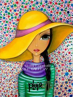 Risultati immagini per romi lerda Art And Illustration, Illustration Mignonne, Art Pop, Abstract Faces, Abstract Art, Arte Sketchbook, Whimsical Art, Face Art, Mixed Media Art