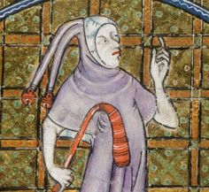 Detail from The Luttrell Psalter, British Library Add MS 42130 (medieval manuscript,1325-1340), f89v
