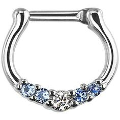 Online shopping from a great selection at Clothing, Shoes & Jewelry Store. Septum Clicker, Septum Ring, Septum Jewelry, Body Jewellery, Body Piercings, Jewelry Stores, Turquoise Bracelet, Gems, Diamond
